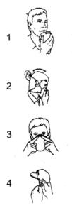 Ilustracje przedstawiające sposób dopasowania półmaski