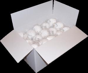 Zdjęcie półmasek przeciwpyłowych MB10 w opakowaniu foliowym - karton zbiorczy