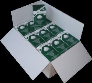 Zdjęcie półmasek przeciwpyłowych MB10V w opakowaniu tekturowym - karton zbiorczy
