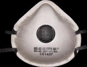 Zdjęcie półmaski przeciwpyłowej (ochronnej, filtrującej) P3 - MB 40VS FFP3 - przód