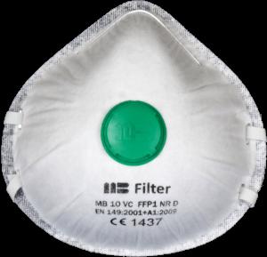 Zdjęcie półmaski przeciwpyłowej (ochronnej, filtrującej) P1 - MB 10VC FFP1 - przód