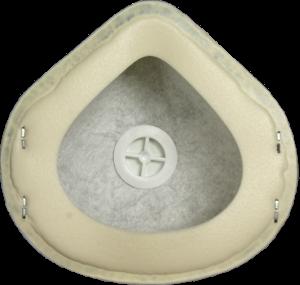 Zdjęcie półmaski przeciwpyłowej (ochronnej, filtrującej) P3 - MB 30V FFP3 - tył