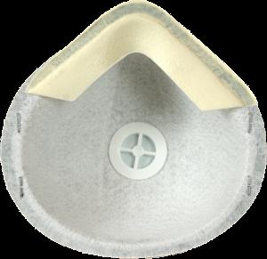 Zdjęcie półmaski przeciwpyłowej (ochronnej, filtrującej) P1 - MB 10V FFP1 - przód