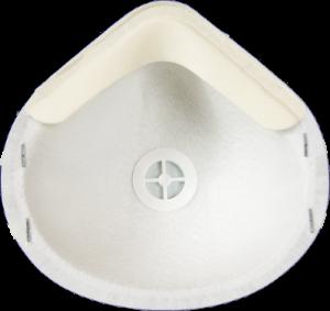 Zdjęcie półmaski przeciwpyłowej (ochronnej, filtrującej) P2 - MB 20V FFP2 - tył